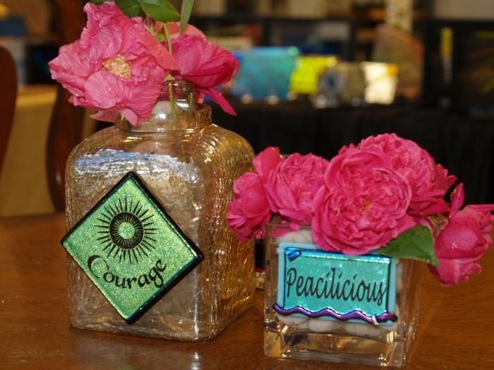 Courage & Peacilicious Vases